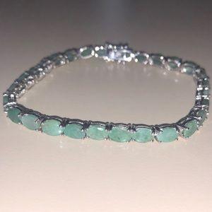 Jewelry - Green Grandiderite Sterling Silver 9.59 CTW
